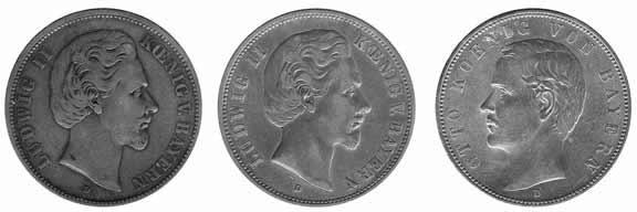 Немецкие монеты со следами естественной патины.
