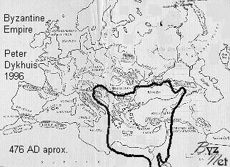 Византийская империя - карта