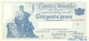 50 Песо выпуска 1908 года, Аргентина. Подробнее...