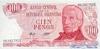 100 Песо выпуска 1976 года, Аргентина. Подробнее...