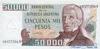 50000 Песо выпуска 1979 года, Аргентина. Подробнее...