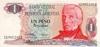 1 Песо выпуска 1983 года, Аргентина. Подробнее...