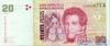 20 Песо выпуска 2000 года, Аргентина. Подробнее...