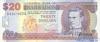 20 Долларов выпуска 2002 года, Барбадос. Подробнее...