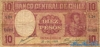 10 Песо выпуска 1939 года, Чили. Подробнее...