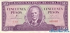 50 Песо выпуска 1961 года, Куба. Подробнее...
