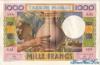 1000 Франков выпуска 1952 года, Джибути. Подробнее...