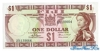 1 Доллар выпуска 1974 года, Фиджи. Подробнее...