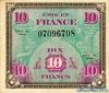 10 Франков выпуска 1944 года, Франция. Подробнее...