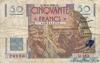 50 Франков выпуска 1950 года, Франция. Подробнее...