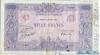 1000 Франков выпуска 1888 года, Франция. Подробнее...