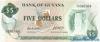 5 Долларов выпуска 1966 года, Гайана. Подробнее...