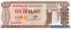 10 Долларов выпуска 1966 года, Гайана. Подробнее...