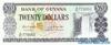 20 Долларов выпуска 1966 года, Гайана. Подробнее...