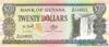 20 Долларов выпуска 1996 года, Гайана. Подробнее...