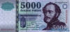 5000 Форинтов выпуска 1998 года, Венгрия. Подробнее...