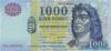 1.000 Форинтов выпуска 2000 года, Венгрия. Подробнее...