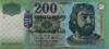 200 Форинтов выпуска 2002 года, Венгрия. Подробнее...