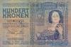 100 Крон выпуска 1920 года, Венгрия. Подробнее...
