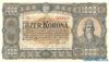 1000 Крон выпуска 1923 года, Венгрия. Подробнее...