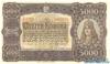 5000 Крон выпуска 1923 года, Венгрия. Подробнее...