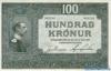 100 Крон выпуска 1927 года, Исландия. Подробнее...