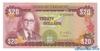 20 Долларов выпуска 1960 года, Ямайка. Подробнее...