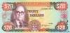 20 Долларов выпуска 1989 года, Ямайка. Подробнее...