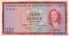 100 Франков выпуска 1963 года, Люксембург. Подробнее...