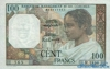 100 Франков выпуска 1950 года, Мадагаскар. Подробнее...