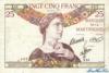25 Франков выпуска 1930 года, Мартиника. Подробнее...