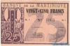25 Франков выпуска 1942 года, Мартиника. Подробнее...