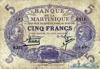 5 Франков выпуска 1901 года, Мартиника. Подробнее...