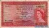 10 Рупий выпуска 1954 года, Маврикий. Подробнее...