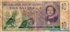 10 Гульденов выпуска 1954 года, Нидерланды (Новая Гвинея). Подробнее...