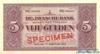 5 Гульденов выпуска 1925 года, Нидерланды (Индия). Подробнее...