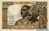 1000 Франков выпуска 1970 года, Нигерия (Западно-Африканские Штаты). Подробнее...