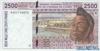2500 Франков выпуска 1999 года, Нигерия (Западно-Африканские Штаты). Подробнее...