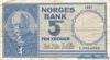5 Крон выпуска 1961 года, Норвегия. Подробнее...