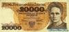 20.000 Злотых выпуска 1989 года, Польша. Подробнее...