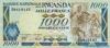 1000 Франков выпуска 1989 года, Руанда. Подробнее...