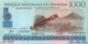 1000 Франков выпуска 1998 года, Руанда. Подробнее...
