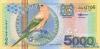 5000 Гульденов выпуска 2000 года, Суринам. Подробнее...