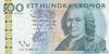 100 Крон выпуска 2001 года, Швеция. Подробнее...