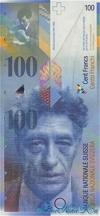 100 Франков выпуска 1998 года, Швейцария. Подробнее...