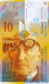 10 Франков выпуска 1995 года, Швейцария. Подробнее...