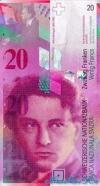 20 Франков выпуска 1994 года, Швейцария. Подробнее...