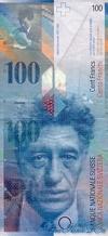 100 Франков выпуска 1997 года, Швейцария. Подробнее...