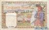 50 Франков выпуска 1939 года, Тунис. Подробнее...