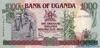 1000 Шиллингов выпуска 1991 года, Уганда. Подробнее...